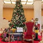 クリスマスのホテル日航福岡のロビー