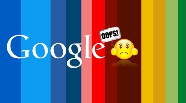 сбой гугл