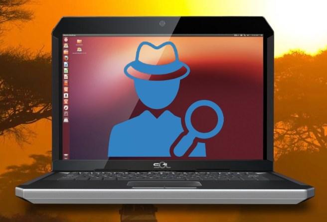 слежка в Ubuntu