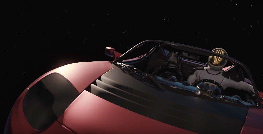 Космический Tesla Roadster опасен для Марса!
