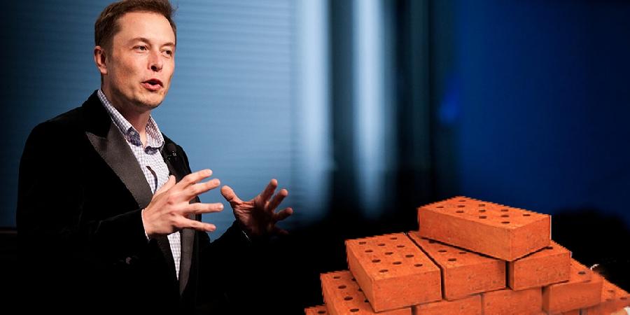 Илон Маск начнет выпуск… кирпичей!