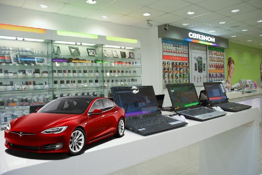 Связной запустил конфигуратор электромобилей Tesla.