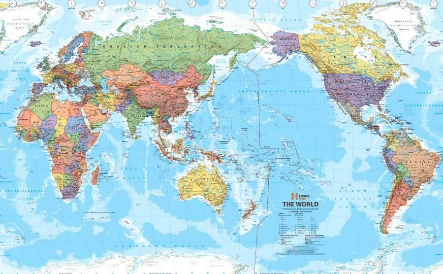 Китай. Карта мира.