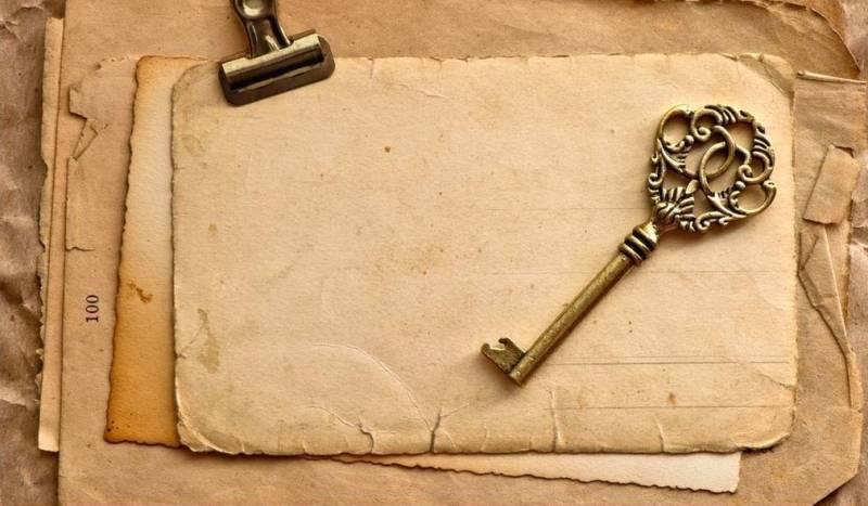 Ключ бумага винтаж