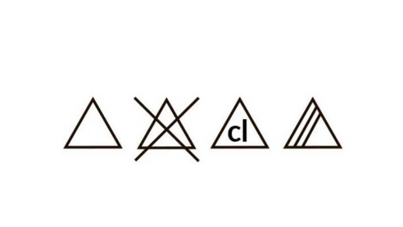 Значение бирок на одежде треугольники