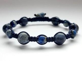 Bransoletka z sodalitu i lapisu lazuli