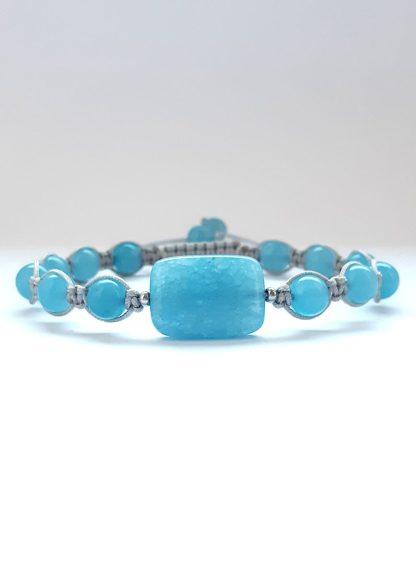 Bransoletka dla kobiet z kwarcu niebieskiego
