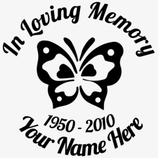 Download In Loving Memory Cross Decal Style - Cross , Transparent ...