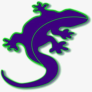 Gecko Reptile Free Vector Graphic On Pixabay - Lizard Clipart Black ,  Transparent Cartoon, Free Cliparts & Silhouettes - NetClipart