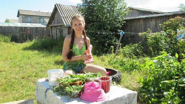 Иван-чай скатываем в колбаски