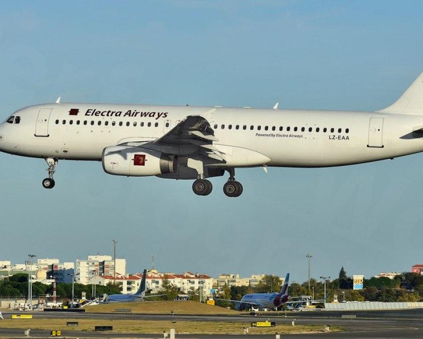Airbus A320 выполняет чартерный рейс