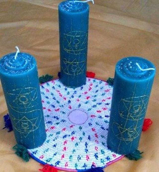 Голубые свечи в магии