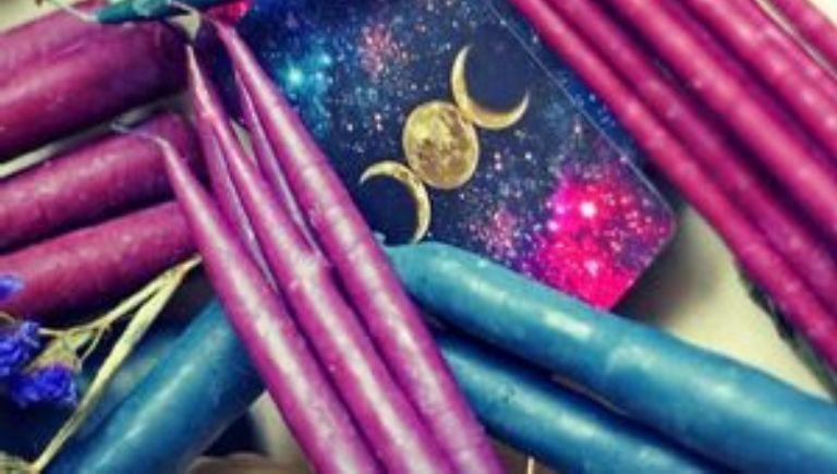 Фиолетовые свечи в магии