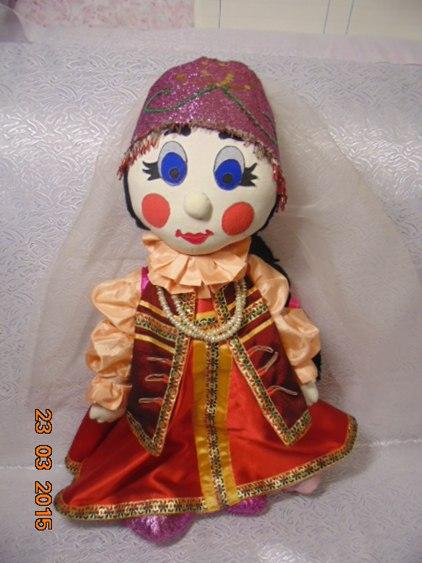 Текстильная кукла 70 см Марфа Васильна.