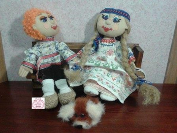 Текстильные шарнирные куклы.