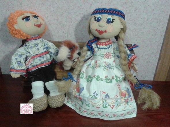 История одной выкройки текстильных кукол.