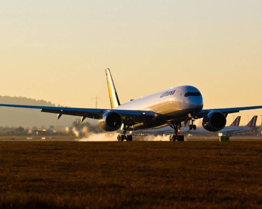Посадка Airbus A350