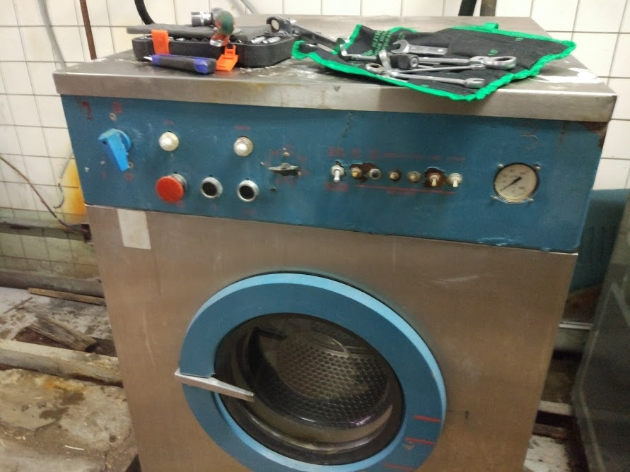 промышленная стиральная машина с ручным управлением