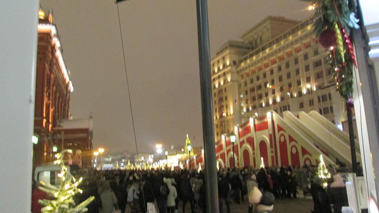 Прогулки по новогодней Москве