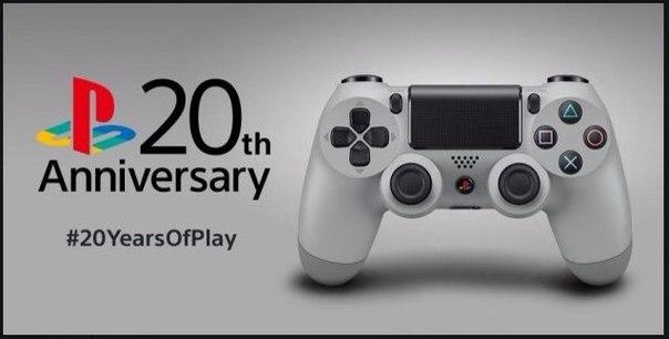 Sony выпустит DualShock 4 в честь 20-летия PlayStation