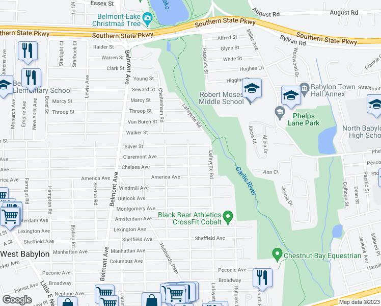 407 Claremont Avenue West Babylon Ny Walk Score