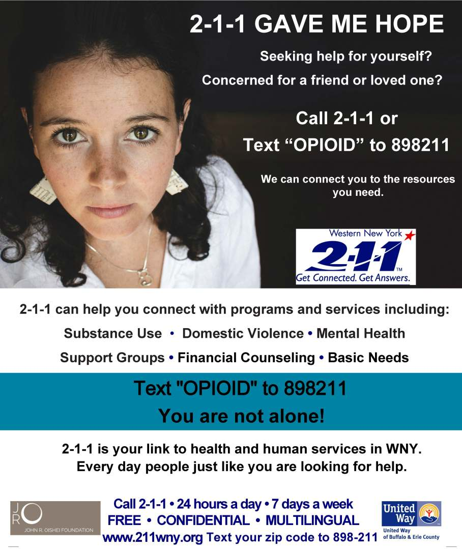 2-1-1 Opioid Flyer