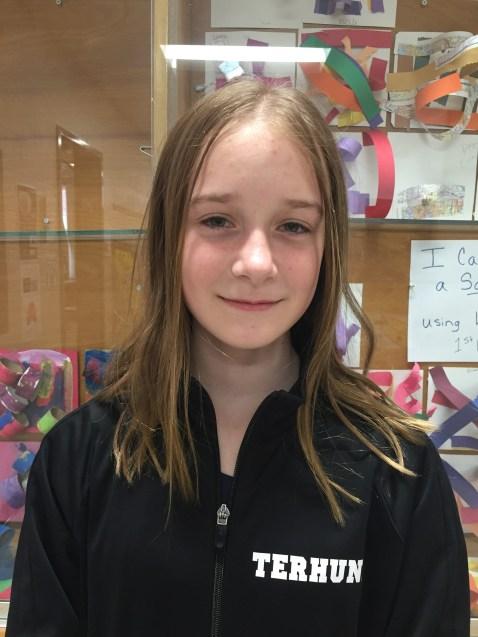 Andover 8th Grader Gabby Terhune overall winner.