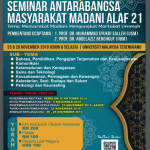 MADANI 2019 : INTERNATIONAL CONFERENCE ON MADANI SOCIETY 2019