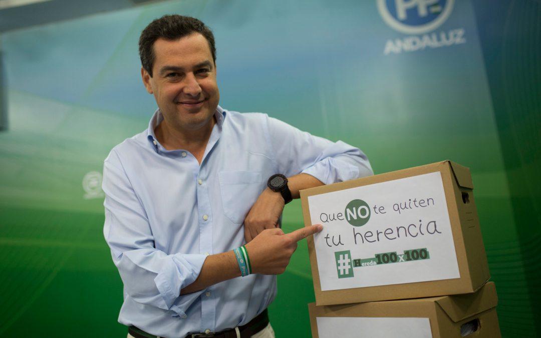 Moreno pide a PSOE y Cs que dejen atrás los complejos y den un paso más para la eliminación real de sucesiones