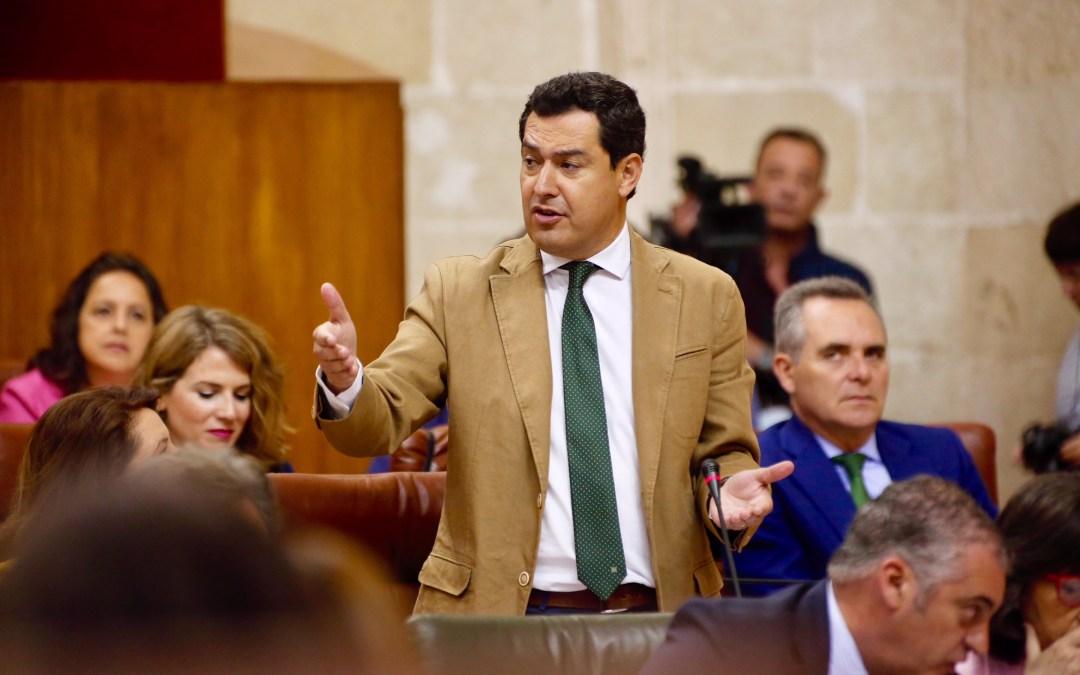"""Moreno propone a Díaz pactar un presupuesto """"que pueda gestionar un nuevo gobierno"""""""