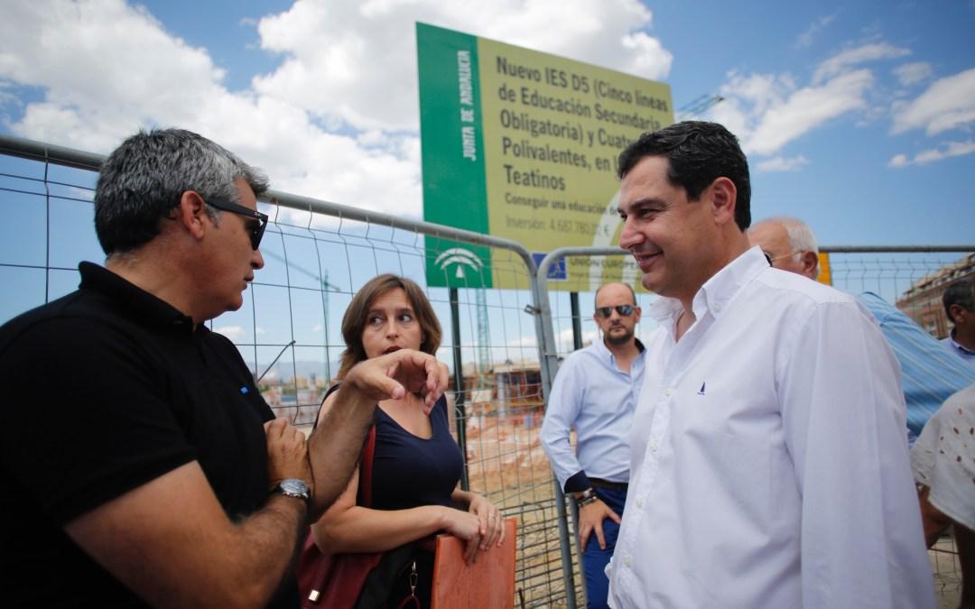 Moreno exige a la Junta planificación en materia de personal y de infraestructuras educativas en Andalucía