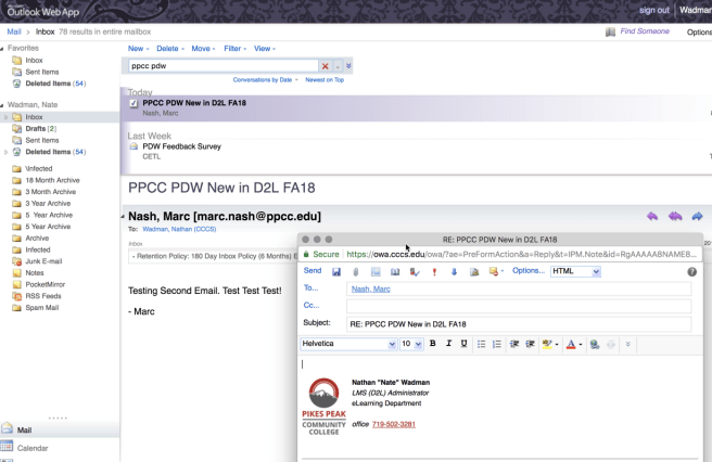 PPCC Email after redirection
