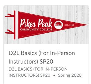 D2L Basics (For In-Person) Instructors image (red pennant)