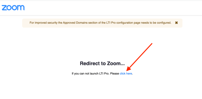 Redirected to Zoom... click here link