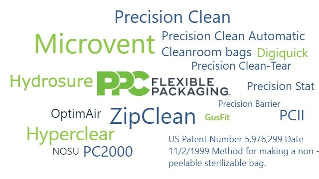 PPC Flexible Packaging Brands, ZipClean, OptimAir, GusFit, PCII, Microvent, Hydrosure, NOSU, PC2000