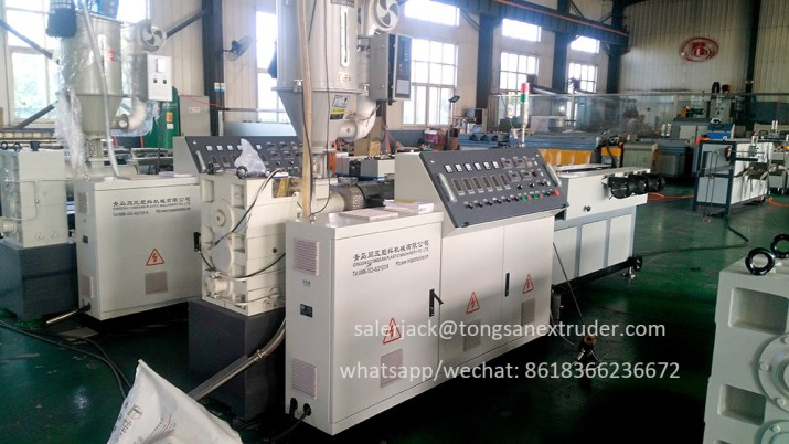 single wall corrugated pipe extruder