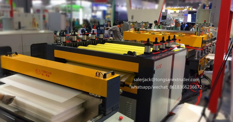 PP corflute sheet machine