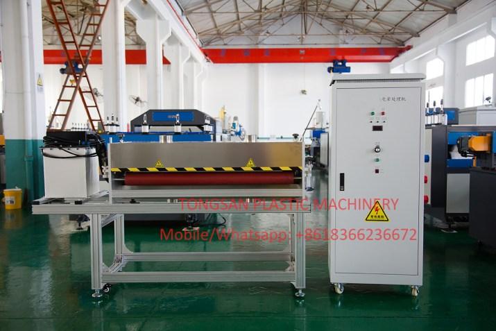 corona treatment machine for pp corrugated sheet