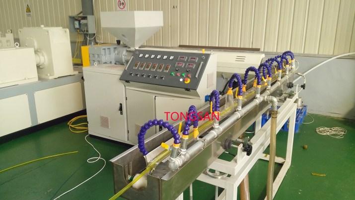 PVC fiber hose extrusion line