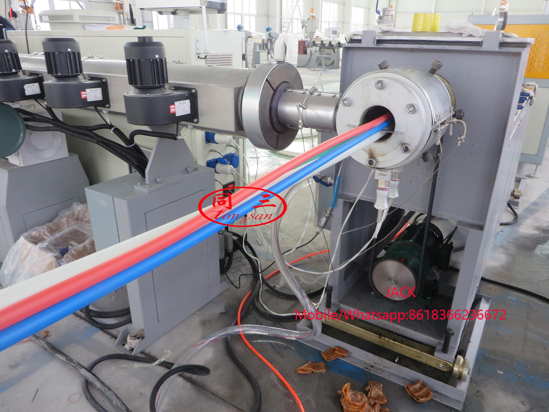 Máquina de fabricación de tubos de microductos HDPE