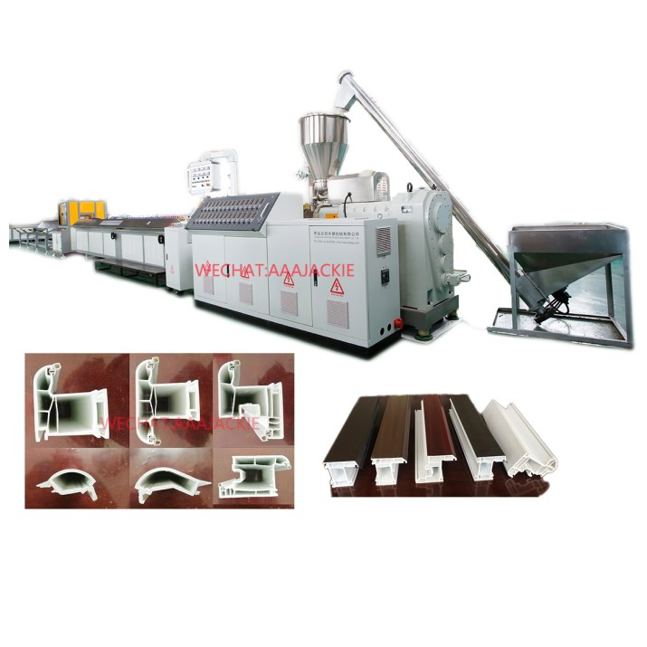 UPVC window door profile extrusion machine