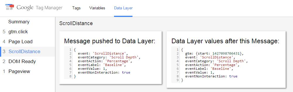 Google tag manager debuger