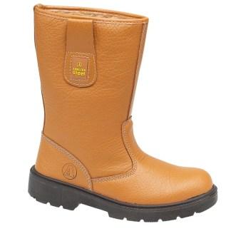Amblers FS124 Tan Pull-on fur lining rigger boot