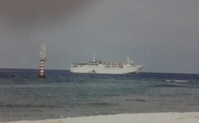 View of our ship M V Tipu Sultan