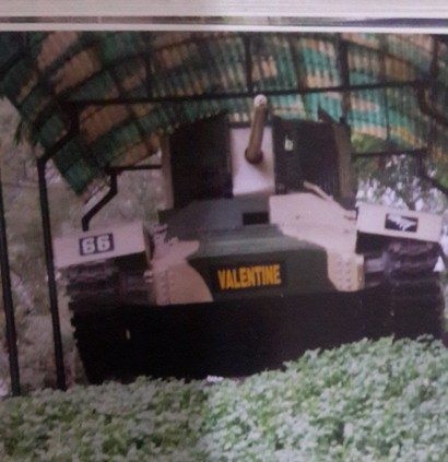 Battled tank named Valentine