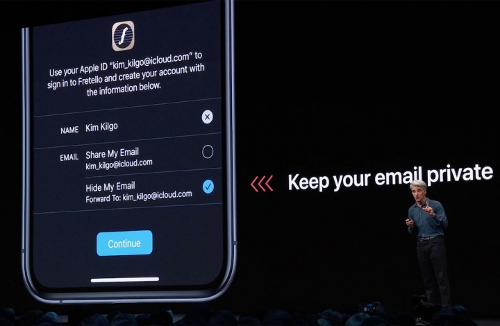 Sign-in with Apple privacidade iOS 13