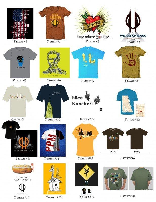 Chicago Apartments, T-Shirt Designs
