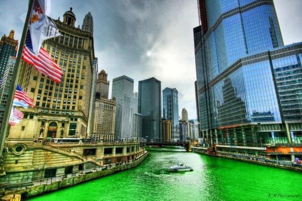 Chicago Apartments, St. Patrick's Day, Chicago River