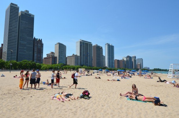 Chicago Apartments, Chicago Beaches, Oak Street Beach