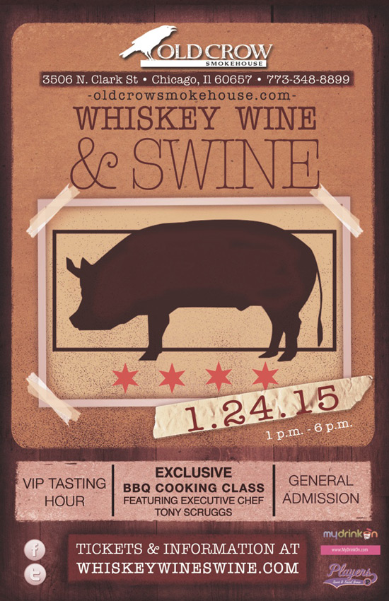 Chicago Apartments, New Year's Events, Old Crow Smokehouse, Whiskey Wine & Swine